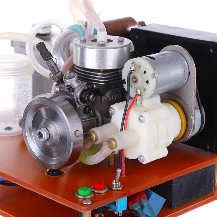 NIKKO Single Cylinder 2-stroke Gasoline Engine with  Water Cooling Radiator