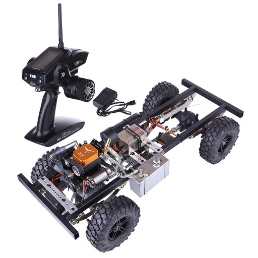 TOYAN 1/10 Modified Upgrade Gas Powered RC Car without Car Body Shell (with FS-S100G / 4CH 2.4g remote control / One Key Remote Start Engine / Automatic Clutch) - stirlingkit