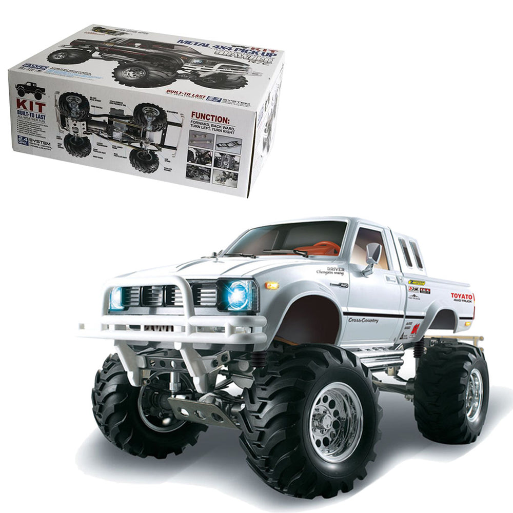 HG 1/10 4WD Electric RC Pickup Truck Crawler DIY Rally Car (Car Frame, No Electronic Equipment) - stirlingkit