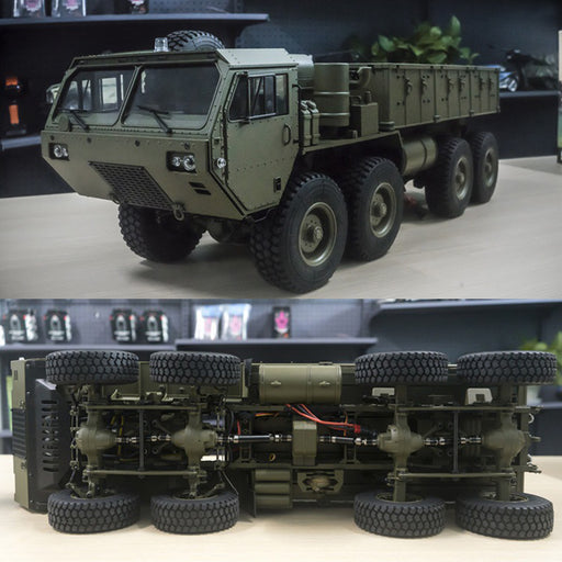 HG 1:12 8 x 8 R/C 2.4G Electric RC Militray Truck Model All Terrin Truck Kit - Sound and Light Version - stirlingkit
