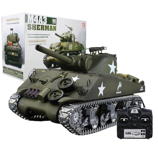 Simulated 1/16 American M4A3 Sherman Tank 2.4G RC Model Military Tank - stirlingkit