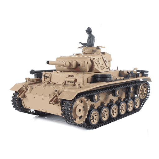 1/16 German Ⅲ H Tank 2.4G Remote Control Model Rechargeable Military Tank - stirlingkit