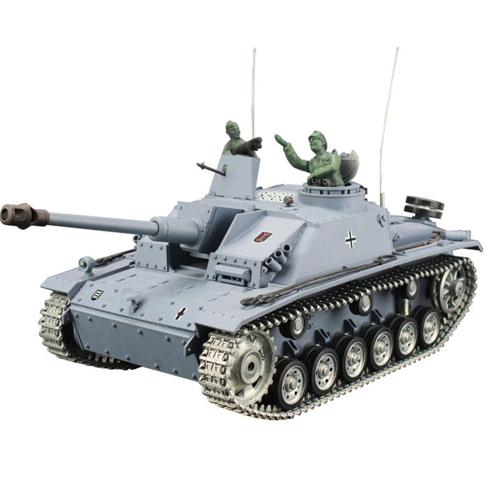 1:16 German III-F8 Assault Tank 2.4G RC Military Tank Model - Metal Ultimate Edition - stirlingkit