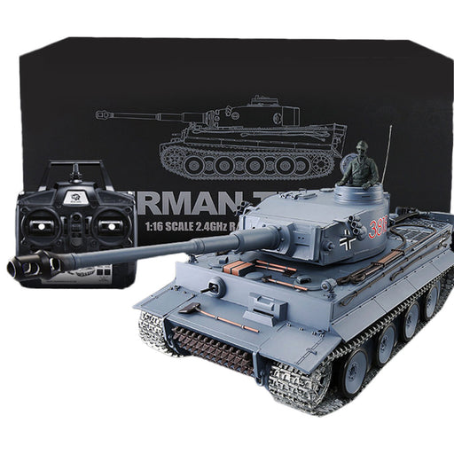 1/16 German Tiger Heavy Tank 2.4Ghz Rechargeable RC Military Tank Model - stirlingkit