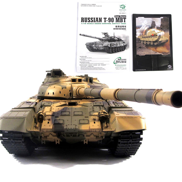 1:16 Russian T90 Main Battle Tank 2.4G Remote Control Model Tank with Sound Smoke Shooting Effect - stirlingkit