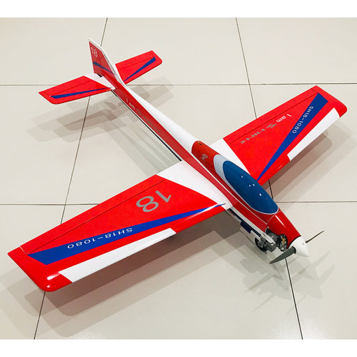1080mm Wingspan Gas Powered Aerobatic 3A Stunt Airplane Balsa Wooden Airplane Model ARF with SH18 Nitro Engine - Red
