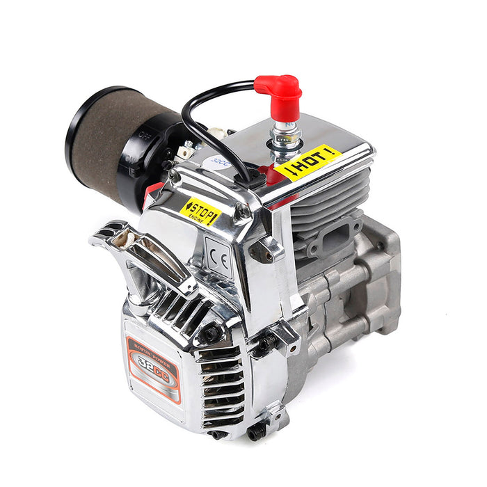 32cc Single-cylinder Two-stroke RC Engine for 1/5 RC Gasoline Model Car Trucks, - stirlingkit