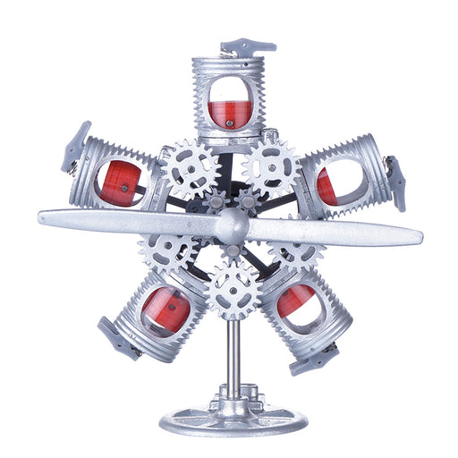 3D Printed Radial Engine Model 5V 5-Cylinder Motor USB Model Star Engine Steam Toy - stirlingkit