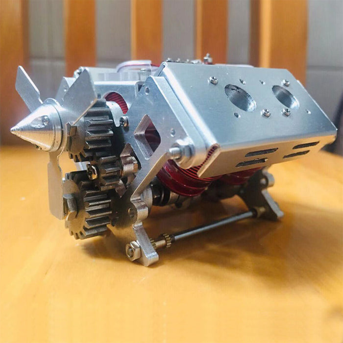 6-12V 5A  V4 Electromagnetic Engine Model Engine Science Experiment Toy - stirlingkit