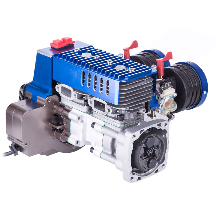 Double-cylinder 60cc Inline Gasoline Engine for 1/5 RC Car HPI BAJA LOSI 5T - stirlingkit