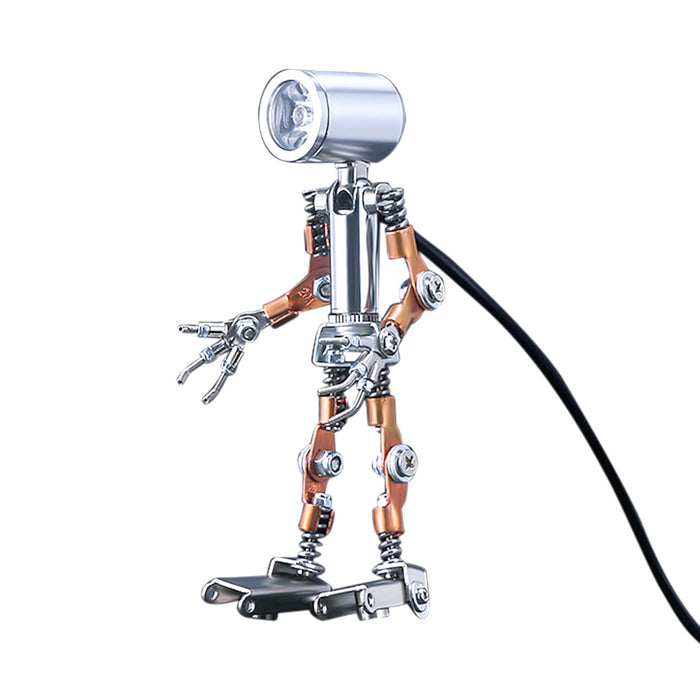 78Pcs DIY Metal Mechanical Mini Night Light Lamp Man Assembly Model Kit - stirlingkit