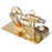 Assembly Single Cylinder Stirling Engine Generator DIY Model - Golden - stirlingkit
