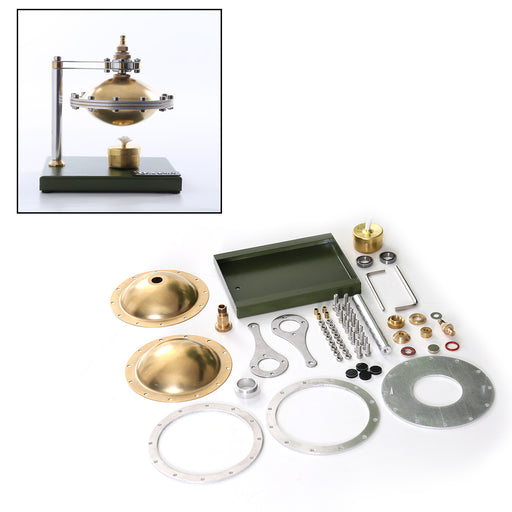 Assembly UFO Spin Suspension Steam Stirling Engine with Copper Boiler - stirlingkit