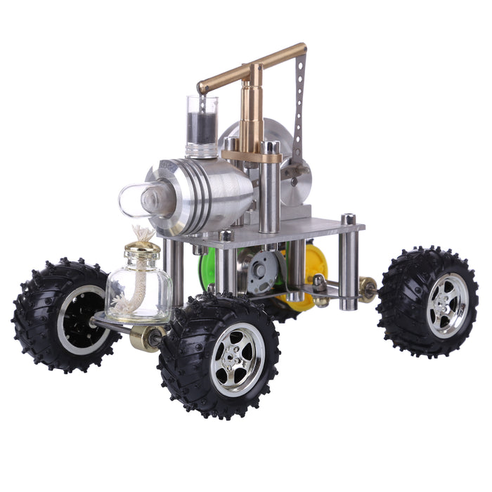 Balance Type Single Cylinder Hot Air Stirling Engine Powered Modified 4-Wheeled Car Model Physical Experiment Lab Toy - stirlingkit