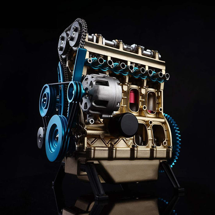 Car Engine Model Full Metal Assembling Four-cylinder