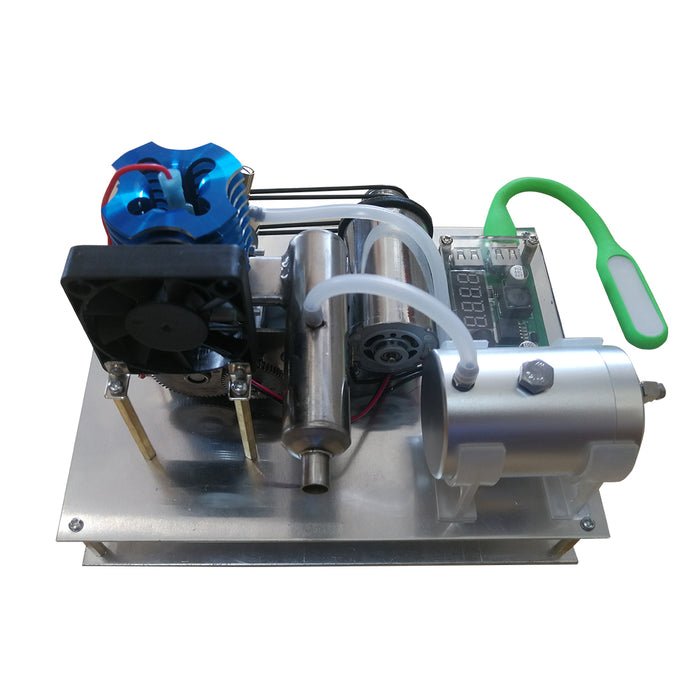 Custom Aircooled VX 18 Single Cylinder Two Stroke Gasoline Engine Generator One Key Electric Start - stirlingkit