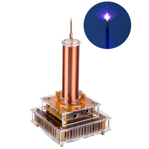 Desktop Lightning Bluetooth Music Tesla Coil Plasma Speaker with AC100-240V Adapter Experiments Toy- US Plug - Stirlingkit