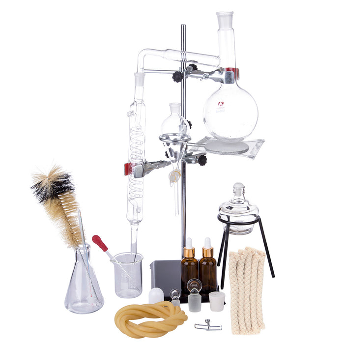 Distiller Limbeck Glass Distilled Water Device Chemical Teaching Instrument Lab Toy - stirlingkit