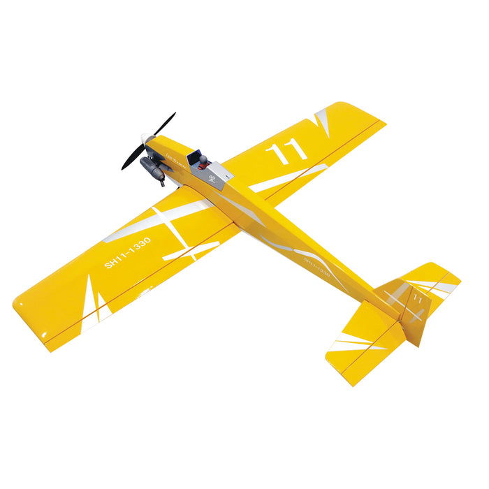 DIY Gas Powered 1330mm Wingspan Seaplane Balsa Wood Airplane Assembly KIT - Red - Stirlingkit