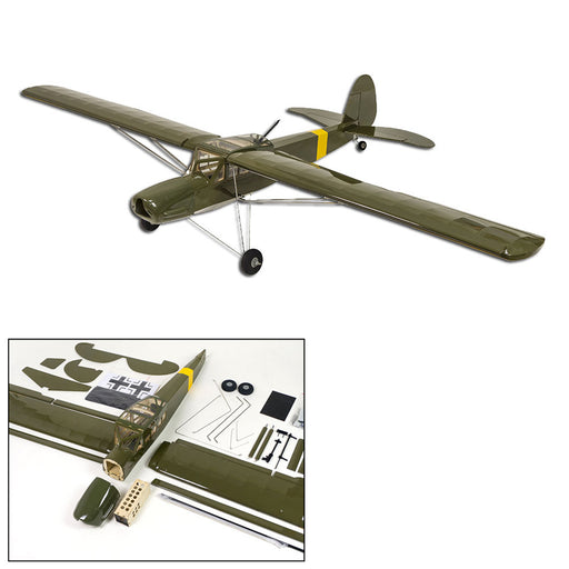 DW HOBBY Fi156 Army Green 1/9 1600mm Wingspan ARF RC Airplane Balsa Wood Airplane