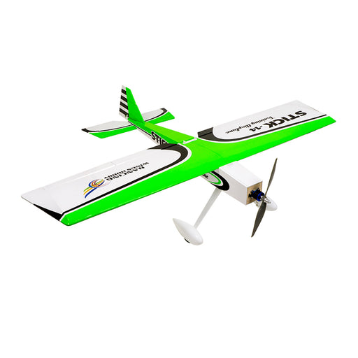 DWHOBBY STICK 14 1400mm Wingspan Electric Balsa Wood Airplane Trainer Plane ARF TCG1401 - Green