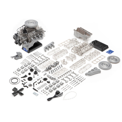 DIY V8 Engine Model Assembly Visual Motor Model Ford Mustang Mini Simulation Transparent - stirlingkit