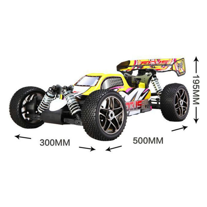 FS 31220 1/8 21CXP Nitro 4WD Buggy Nitro Powered RC Car 70km/h High Speed Off-Road Vehicle - stirlingkit