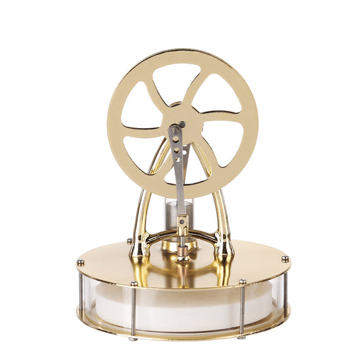 Golden Low Temperature Powered Stirling Engine Science Physical Experiment Toy - stirlingkit