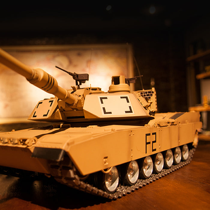 Henglong 1/16 Large American M1A2 Abrams Vehicles 2.4G Main Battle Tank Model - stirlingkit