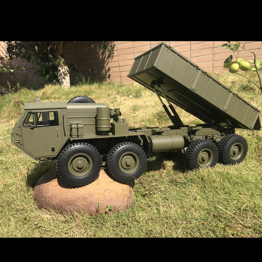 HG-P803A 1/12 2.4G 8 x 8 RC Car Dump Truck U.S. Military Truck Toy - stirlingkit