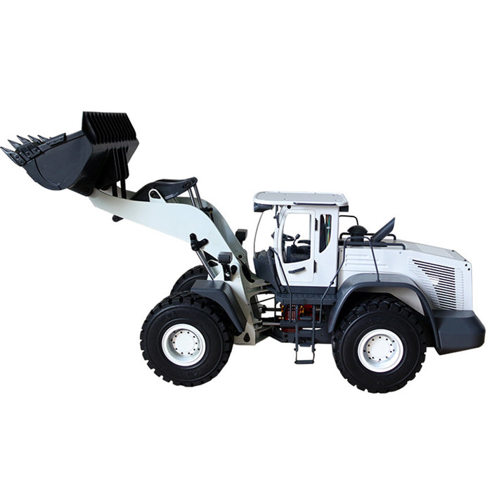 JDMODEL 1/14 RC Hydraulic Wheeled Loader Forklift Electric Construction Model - stirlingkit