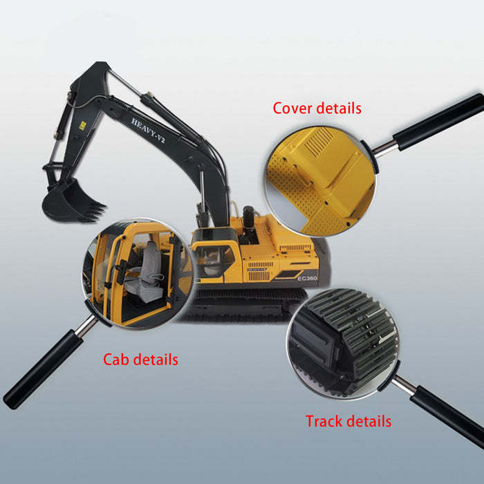 JDMODEL JDM-106 Electric RC Hydraulic Heavy Excavator Construction Navvy Model 1/14 V2 - stirlingkit