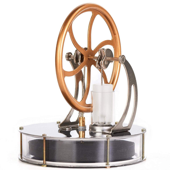 HomeDecTime Set Of 4 Low Temperature Stirling Engine Steam Power Education Model A Stand