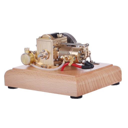 M16B 1.6cc Mini Horizontal Gasoline 4 Stroke Air-cooled Single Cylinder Internal Combustion Engine with Wooden Base Pre-sale - stirlingkit