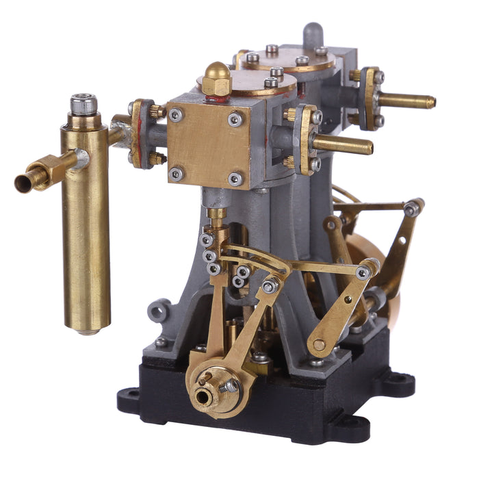 Brass 2 Cylinders Mini Reciprocating Steam Engine with Reversing Gear for RC Ship Boat - stirlingkit