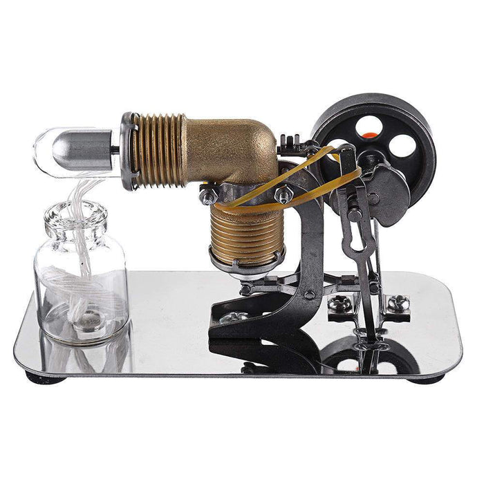 Mini Hot Air Stirling Engine Motor Model Educational Toy Kits Electricity - stirlingkit
