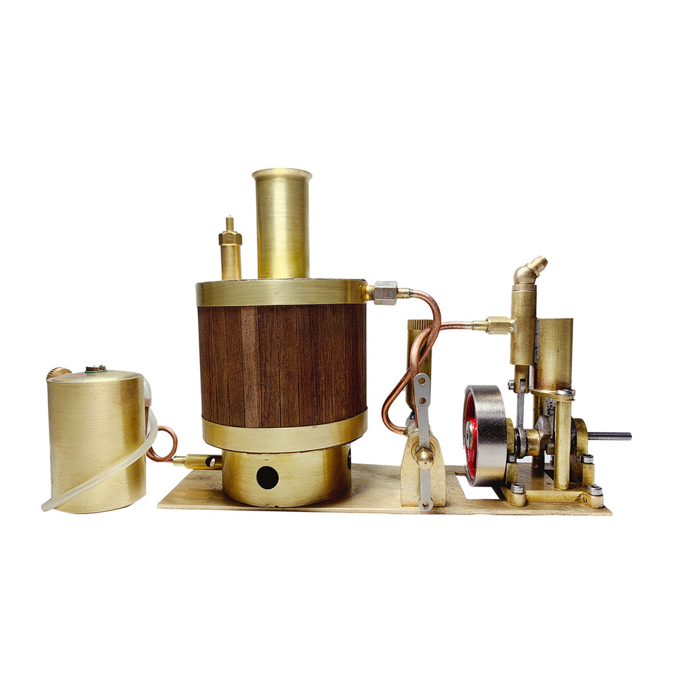 Mini Single-cylinder Steam Engine Set with Boiler for 50cm Ship Model - stirlingkit