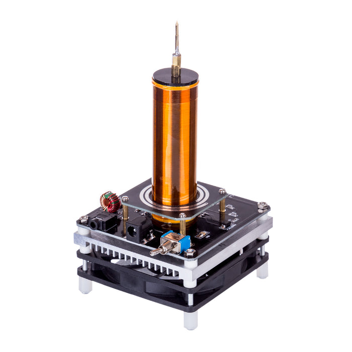 Mini Tesla Coil Plasma Speaker Music with 220V to 24V Power Supply - US Plug - Stirlingkit