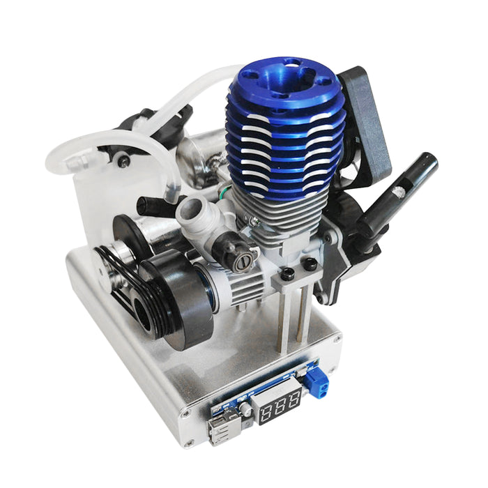 Modified Level 15 Two Strokes 12V Methanol Nitro Powered Engine Generator Model  (5V 1.5A USB Charging) - stirlingkit