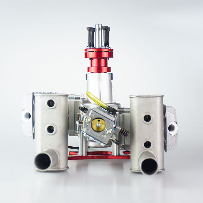 RCGF 60cc 8600rpm Fixed Wing Twin Air Cooled Double-cylinder 2-stroke Piston Valve Gasoline Engine for RC Airplane - Stirlingkit