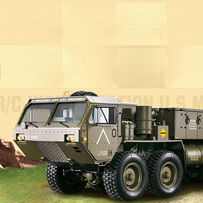 HG 1:12 8 x 8 R/C 2.4G Electric Remote Control Militray Truck Model All Terrin Truck Kit - stirlingkit