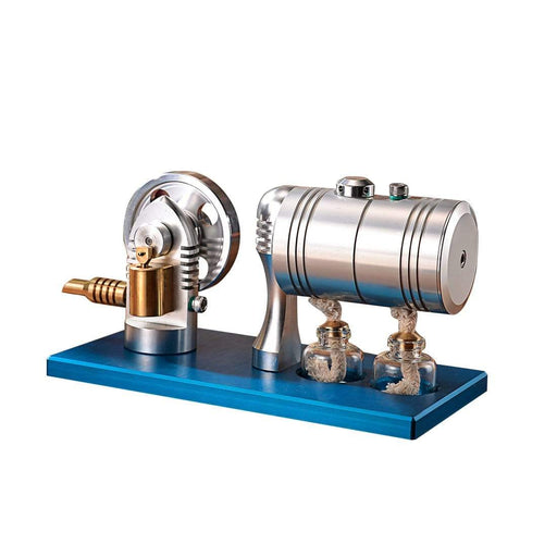 Retro Stirling Engine Model Metal Bootable Steam Engine Model With Heating Boiler Alcohol Burner - stirlingkit