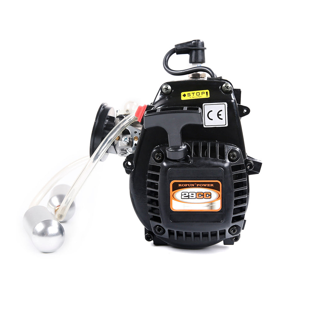 Rofun Power 29CC 2-Stroke Gasoline Engine Single Cylinder with Booster Pump for 1/5 RC Gasoline Model Car - stirlingkit