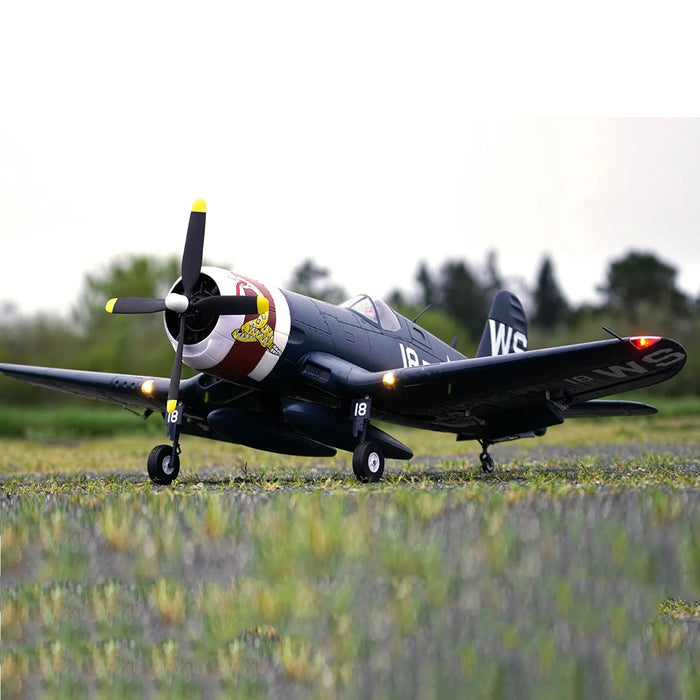 rrows Hobby 1100mm F4U-4 Corsairs Fighter RC Fixed-wing Aircraft Airplane Model Assembly PNP - stirlingkit
