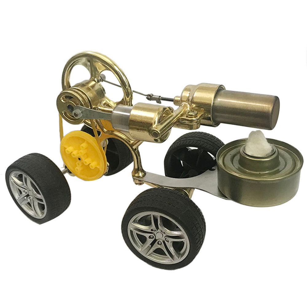 Running Car Motor Single Cylinder Stirling Engine Model Toy - stirlingkit