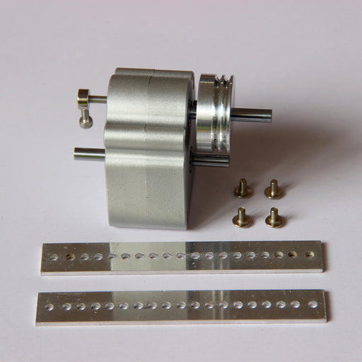 Sealed Metal Gearbox with Pulley Hanger for DIY Gasoline Powered Model Car - stirlingkit