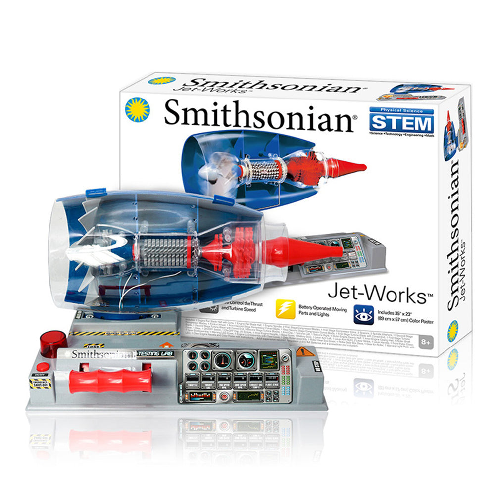 Smithsonian Electric Jet-Works DIY Turbofan Engine Model STEM Kit Steam Pysical Science Toy - stirlingkit