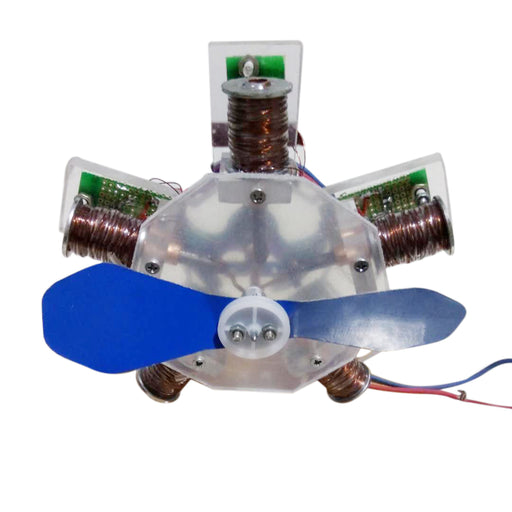 Star Shape Aircraft Head  Electromagnet Engine Model Toy Collection - stirlingkit