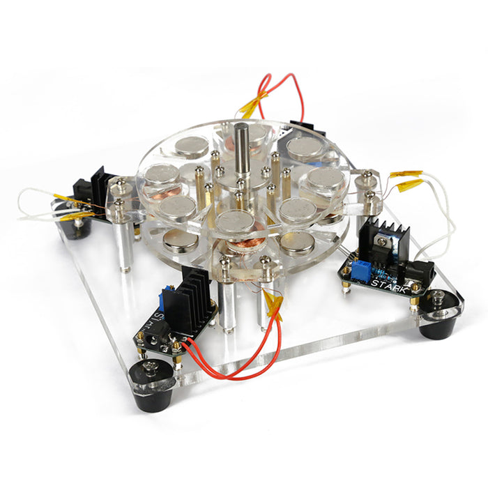Stark 4-coil Hall Brushless High-speed Electromagnetic Motor Engine Model - stirlingkit