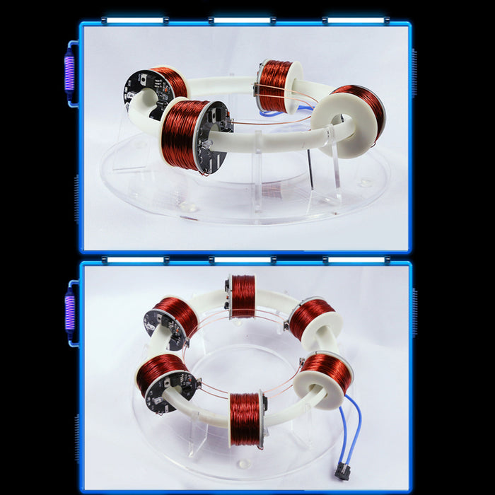Stark 6 Coils Ring Accelerator Cyclotron Physical Model - stirlingkit